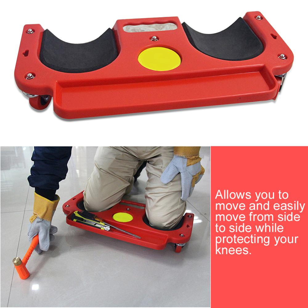 Rolling Knee Protection Pad With Wheel Built In Foam Padded Laying Platform Universal Wheel Kneeling Pad Multi-functional Tool