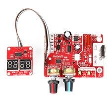 40A/100A zgrzewarka punktowa DIY Panel kontrolny funkcja kontroli czasu i prądu z cyfrowym wyświetlaczem precyzyjna maszyna