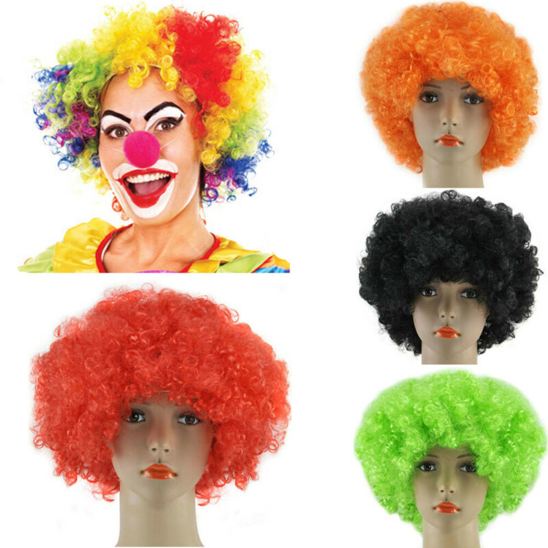 Афро кудрявый костюм реквизит маскарадное платье парики фанки диско клоун Стиль Мужчины/Женщины костюм 70S волосы