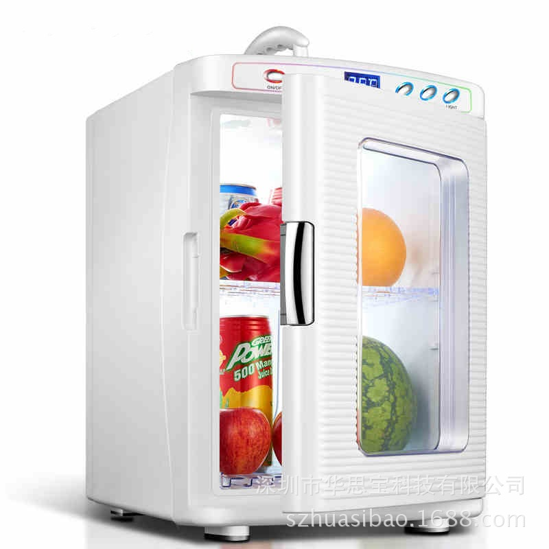 New 25L Mini Portable Small Refrigerator Household Car Refrigerator Energy Saving Low Noise Refrigeration Heating Two In One