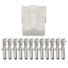 цена на 10 Sets 12 Pin sheathed White car connector   with terminal DJ7123-1.2-21 12P Car connector