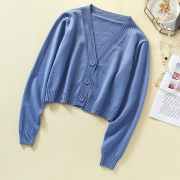 Ailegogo New 2019 Autumn Winter Women's Sweaters Cardigans Minimalist Knitting Tops Fashionable Korean Style Ladies SW8864 6