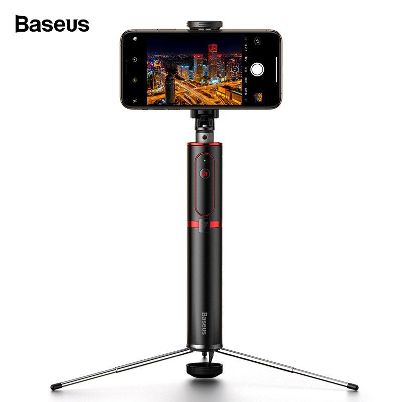 Baseus Bluetooth Selfie bâton trépied sans fil auto-bâton pour iPhone 11 Xiao mi Huawei Samsung téléphone portable Selfiestick monopode