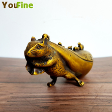 Chinese classical bronze traditional lucky rat money bag 12 Zodiac auspicious desktop decoration ornaments