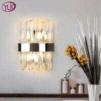 Youlaike Modern Wall Sconce Lighting Creative Design Chrome Bedroom LED Crystal Wall Lamp Bedside Home Decor Wall Light Fixture