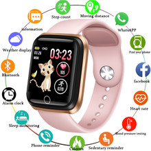 Ini Smart Watch Wanita Olahraga Smart Gelang IP67 Tahan Air Pedometer Heart Rate Monitor LED Warna Layar untuk Android IOS(China)
