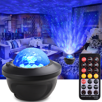 Led Star Galaxy Starry Sky Projector Night Light Built-in Bluetooth Speaker For Bedroom Decoration Child Kids Birthday Present - Green laser, China