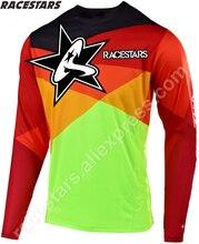 цена на RACESTARS Moto Jersey MTB DH MX Off road ATV Racing TShirt Bicycle Cycling Bike downhill Jersey motorcycle Jersey motocross Ropa