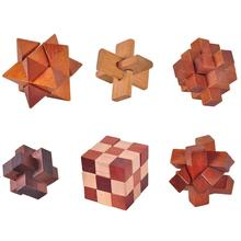 Burr Puzzles Ban-Lock Wood for Adults Kid Intelligence Toy Game-Toy Brain-Teaser-Kong