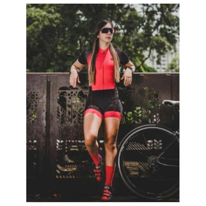 Macaquinho Ciclismo das mulheres triathlon manga curta camisa de ciclismo define skinsuit maillot ropa ciclismo bicicleta jérsei roupas ir macacão macacão ciclismo feminino kafitt conjunto ciclismo roupa de ciclismo 11