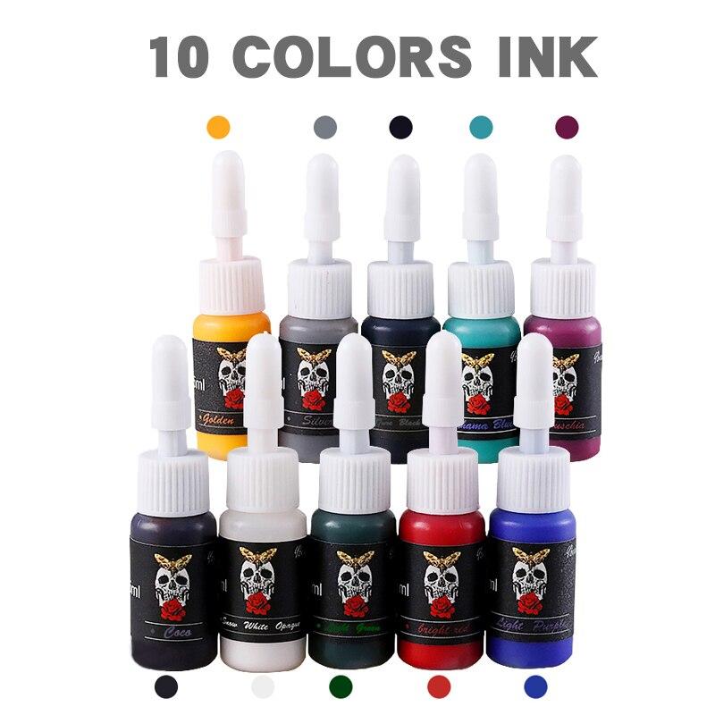 Полный набор для тату-машинки, роторный пистолет, тату-ручка, блок питания для тату, картриджи, иглы, аксессуары для перманентного макияжа 6