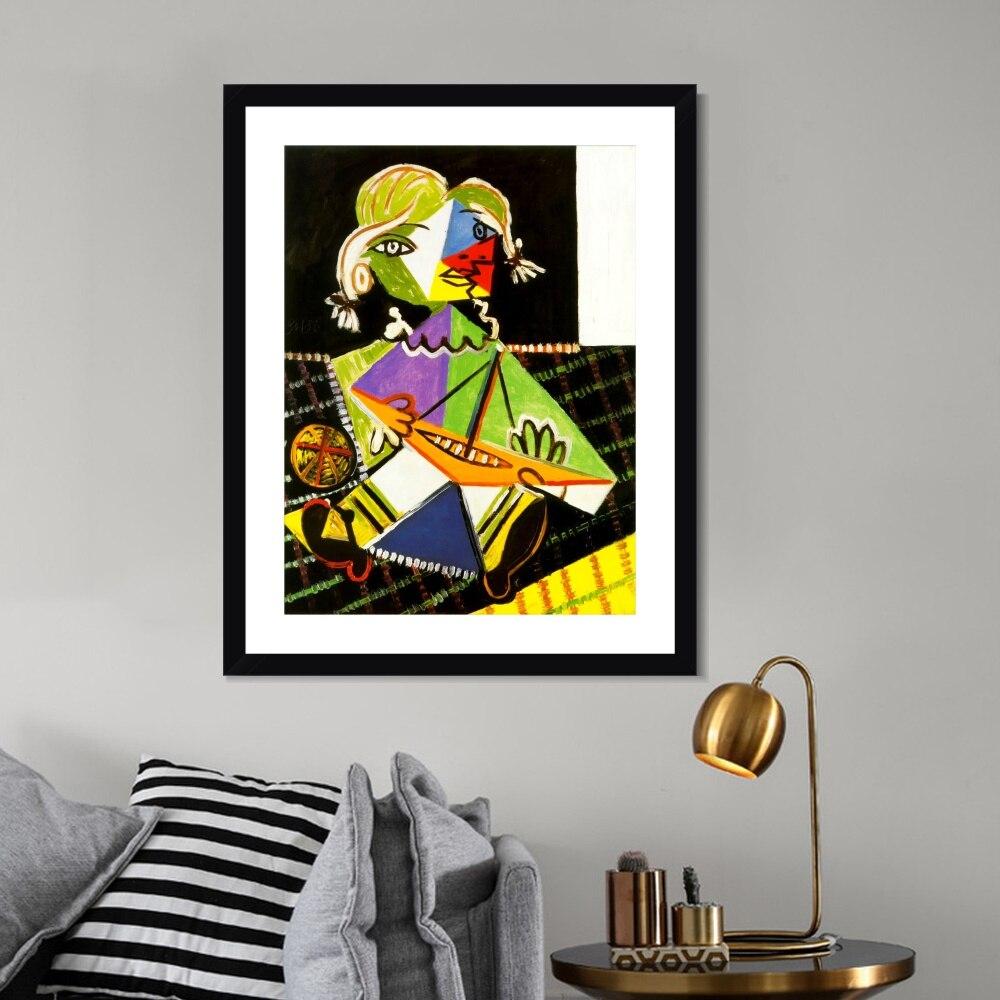 1938 Maya au bateau 2 par Picasso peinture toile Art imprimer affiche photo murale pour salon décor à la maison