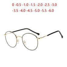 Gafas ópticas ovaladas para hombres y mujeres, anteojos con prescripción asférica 1,56, para estudiantes, miopía, 0-0,5-0,75 a-6,0