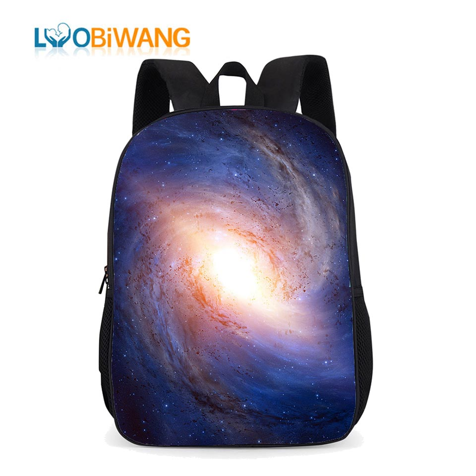 LUOBIWANG Children Primary School Backpacks Bag Stars Universe Space For Teenager Boys And Girls Waterproof Bookbag For Kids