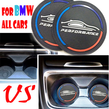 2PCS Car Coasters Cup Holder Mats for BMW E90 E60 F10 G30 F30 F20 G20 X5 F15 E70 E91 F31 F11 X3 F25 X1 F48 F34 F36 Accessories image