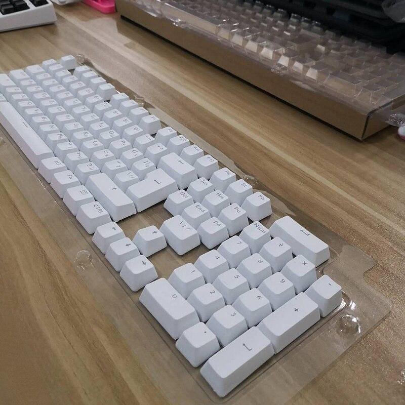104 колпачки клавиш русские полупрозрачные колпачки для подсветки для выключателя Cherry клавиатура MX