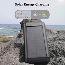 30000mAh Qi Wireless Power Bank Solar Waterproof External Battery Powerbank 4 USB Output 12V1.5A Fast Charger Poverbank
