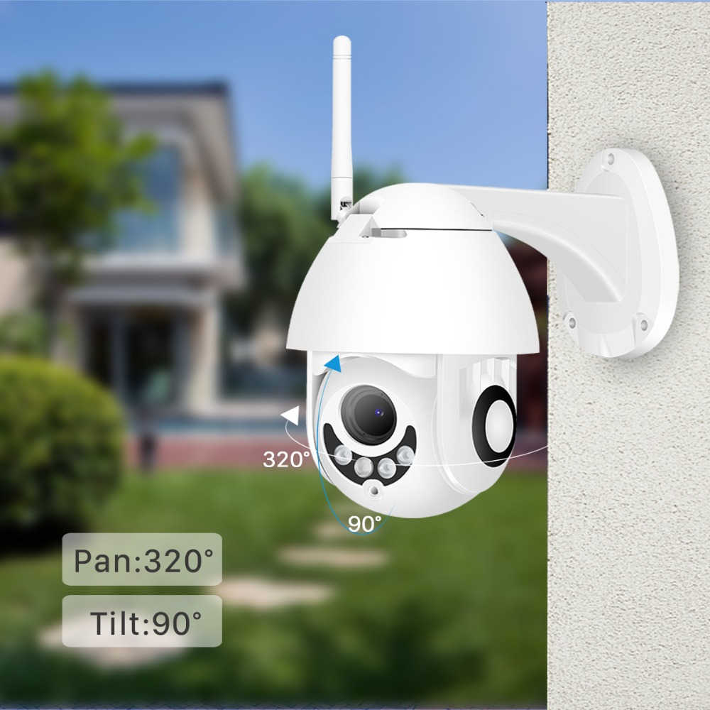 BESDER 1080P H.265 Speed Dome Outdoor WiFi Wireless Pan Tilt IP Camera 2 Way Audio SD Card IR Vision IP ONVIF Video Surveillance