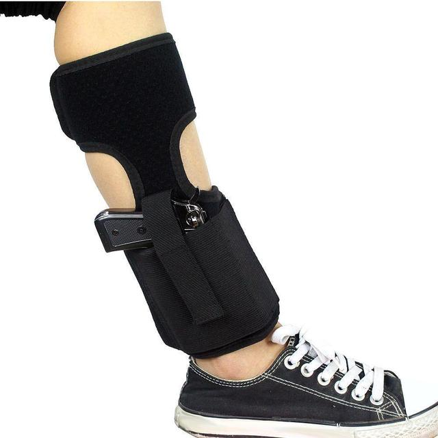 Tactical Concealed Carry Ankle Holster  Pouch Elastic Secure Strap Leg Pistol Gun Holster Hunting Bag 2