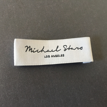 Factory Price Customized 50D High Density 1.8*5.8cm Thin Cloth Woven Labels Clothing Labels