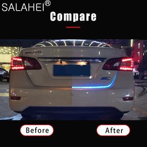 Image 3 - 12V 1.2M 1.5M Car Rear Trunk Tail Light Dynamic Streamer Reverse Warning LED Strip Auto Additional Break Trun Signal Lamp