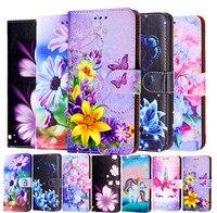 Blume Telefon Fall Für Xiaomi Mi 4 4s 4c 5S Plus Mi 6 8 9 SE Lite Pro CC9E Mi 11 Lite Pro Ultra 11X 11i Flip Abdeckung Coque