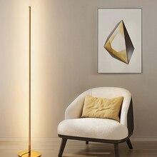 Современная светодиодсветодиодный напольная лампа, комнатное атмосферное украшение для спальни, прикроватного столика, напольное освещен...