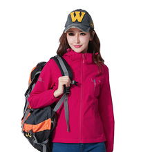 Outdoor stretch men and women spring and autumn thin section single layer soft shell windproof breathable mountaineering suit
