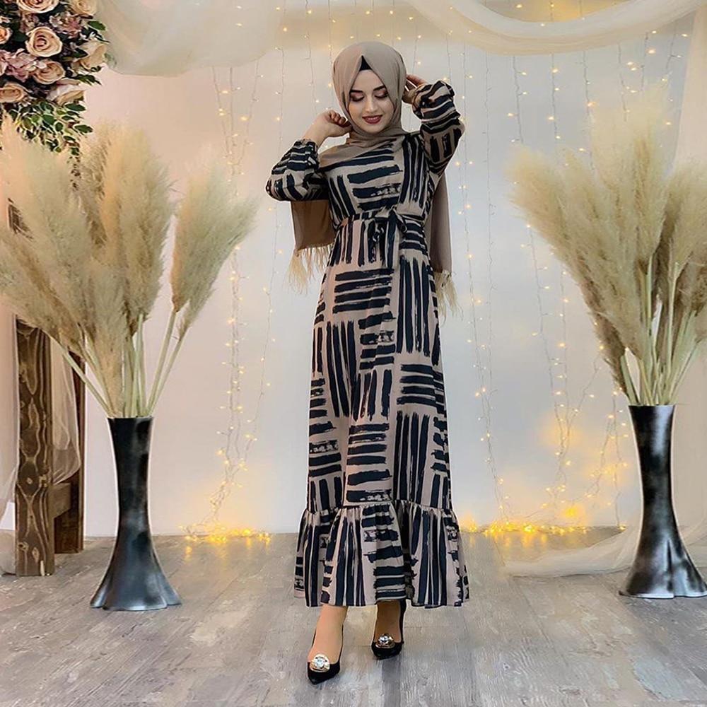 Eid Mubarek Muslim Fashion Dubai Abaya Turkey Hijab Summer Dress Kaftan Caftan Islam Clothing For Women Robe Femme Ete Vestidos(China)