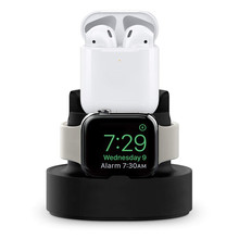 2 in 1 Charging Docking Station Stand For Airpods 3 Apple Watch Charger Dock Holder For iPhone 11 Smart Watch Headphone Earphone