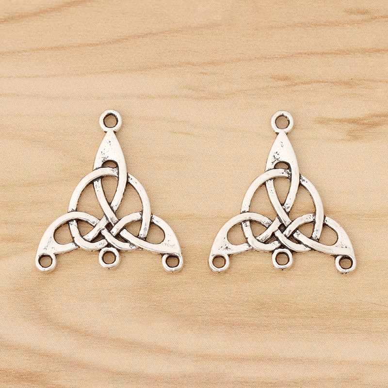 20 Pieces Tibetan Silver Celtics Trinity Triquetra Knot Connectors Charms Pendants for Earring Necklace Jewellery Making