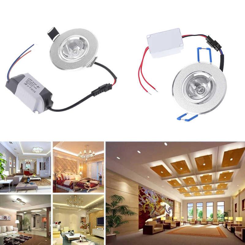1W LED Lampu 85-265V Kabinet Mini Downlight Spot Lampu Langit-langit Lampu Gantung Lampu