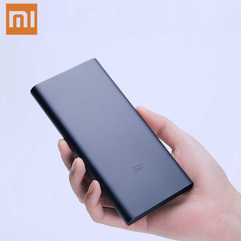 10000mAh Xiaomi Mi Power Bank 2i Externe Batterie Bank 18W Quick Charge Power 10000 PLM09ZM mit Dual USB ausgang für Telefon