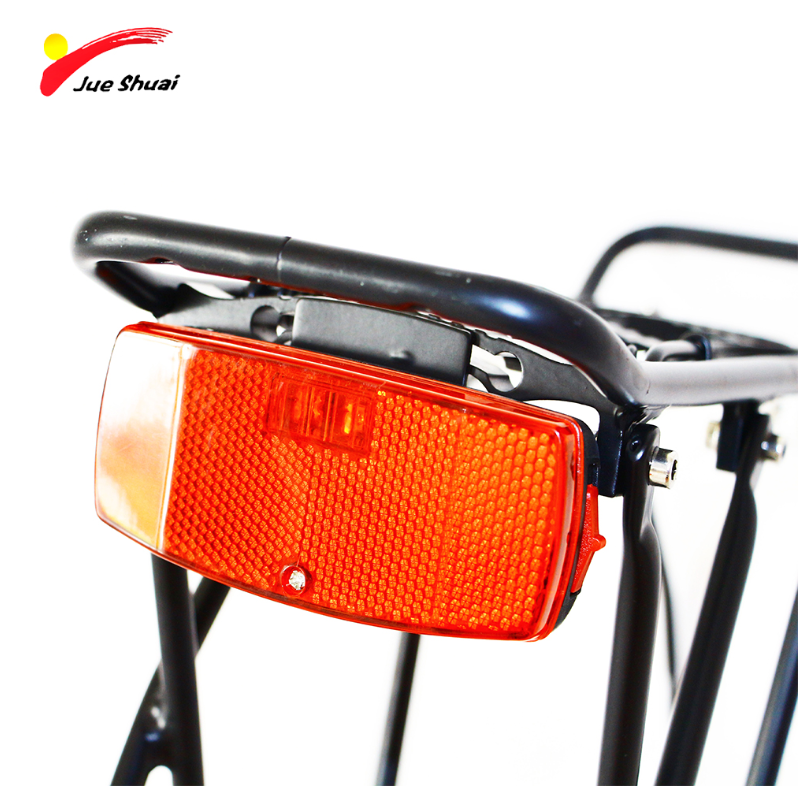 Bicycle LED Rear Rack Taillight W// Built In Reflector For Visibility Safety Red