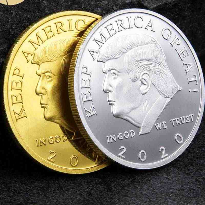 US President Donald Trump 2020 Silver/&Gold Plated Challenge Coin Non-curren CWIC