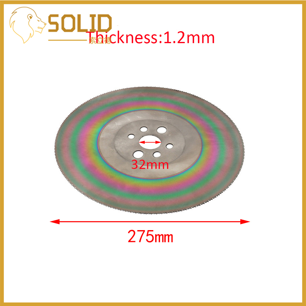 High Speed Steel Circular Saw Blade 275mm Cutting Disc for Stainless Steel HSS Thickness 1.2/1.6/2mm - 3