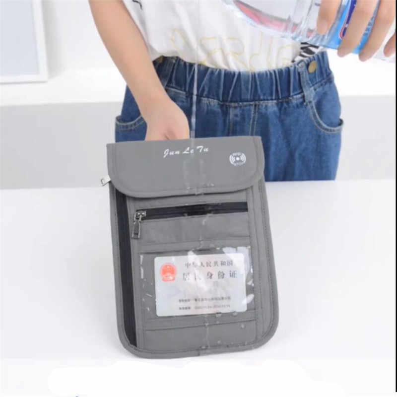 Monedero para tarjeta para el teléfono con bloqueo para hombres y mujeres, Mini bolso cruzado de nailon antirrobo, soporte para pasaporte de viaje, bolsa colgante para el cuello
