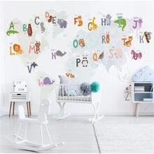 Milofi – grand papier peint personnalisé avec 26 lettres, dessin nordique, thème, mur de fond de chambre d'enfant