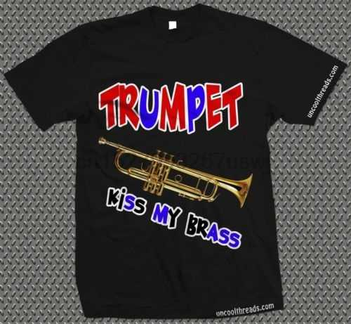Trompet oyuncu T-shirt trompet-öpücük benim pirinç müzisyen trompetçi Tshirt serin rahat pride t gömlek erkekler Unisex yeni moda