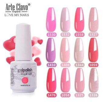 Arte Clavo 85 Color LED UV Gel Nail Polish Salon 8ml Nail Color Top Coat Nail Art Gel Varnish Hybrid Soak Off Gelpolish Manicure недорого