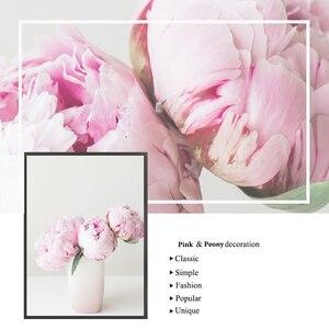 Image 5 - Quadro su tela decorazioni nordiche fiore di peonia rosa Poster e stampa Love Wall Art immagine floreale decorazioni per la camera da letto decorazioni per la casa