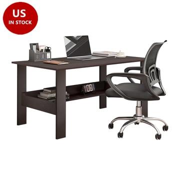 "40"" Computer Desk with Bookshelf 1"