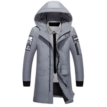 2019 Winter New Down Jacket Men White Duck Down Men X-Long Section Casual Thickening Warm Youth Men #8217 S Hooded Down Coat 9162 cheap JUNGLE ZONE Thick (Winter) JUNGLE ZONE 918-62 REGULAR zipper Denim Acetate Full Solid NONE Pockets Appliques Zippers Polyester