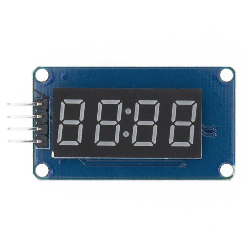 TM1637 4 Bits Digital LED Display Module For arduino 7 Segment 0.36Inch Clock RED Anode Tube Four Serial Driver Board Pack