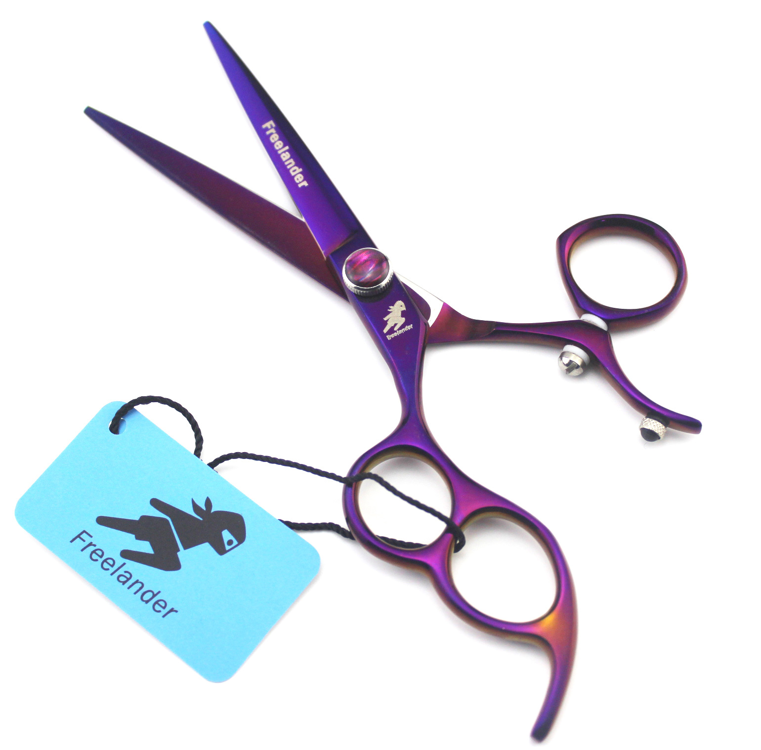 6.0-Inch Stems Freelander Purple Zuo Shou Jian Straight Snips Left-Handed Scissors Send Packet