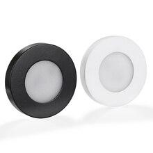 100x dhl superfície redonda montada 3 w 220 v led downlights led lâmpada do teto luz ponto para casa armário sala de estar quarto iluminação