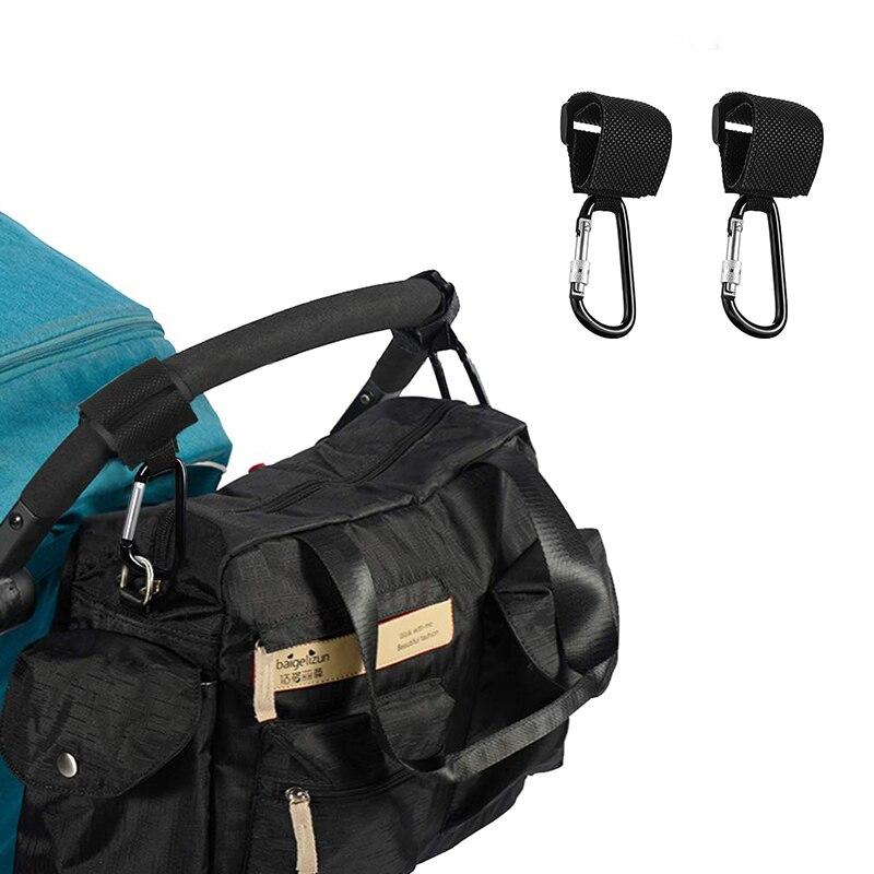 2019 Baby Carriage Hooks Multipurpose Hooks 2pcs Stroller Hooks  Backpack Handle Bag Storage Organizer Baby Stroller Accessorie