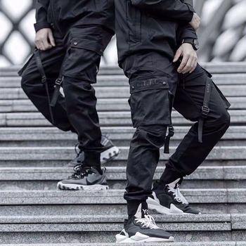 Kwiecień MOMO 2020 męskie spodnie hip-hopowe spodnie dresowe Streetwear męskie dorywczo mody Slim Fit duże rozmiary spodnie na jesień mężczyzn tanie i dobre opinie April MOMO Cargo pants Pełnej długości Mieszkanie REGULAR COTTON Poliester Midweight Suknem Kieszenie Hip Hop Elastyczny pas