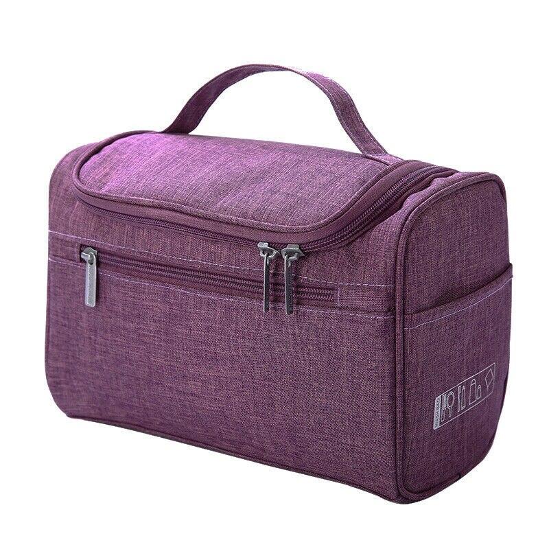 6 Colors Unisex Cosmetic Bag Solid Zipper Cloth Make Up Storage Bag Large Capacity Square Shape Travel Organizer