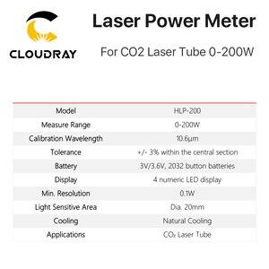 Image 3 - Cloudray כף יד CO2 לייזר צינור כוח מד 0 200W HLP 200 עבור לייזר חריטה ומכונת חיתוך